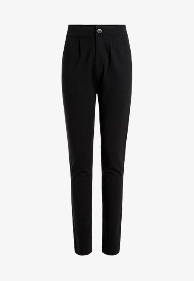 SLIM FIT - Spodnie materiałowe - black