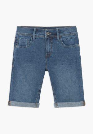 NLMSHAUN LONG SHORTS - Denim shorts - medium blue denim