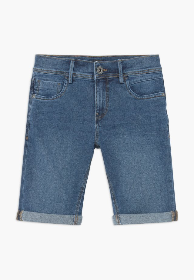 NLMSHAUN LONG SHORTS - Denim shorts - medium blue denim