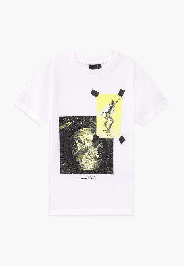 NLMBERTRAM  - Print T-shirt - bright white