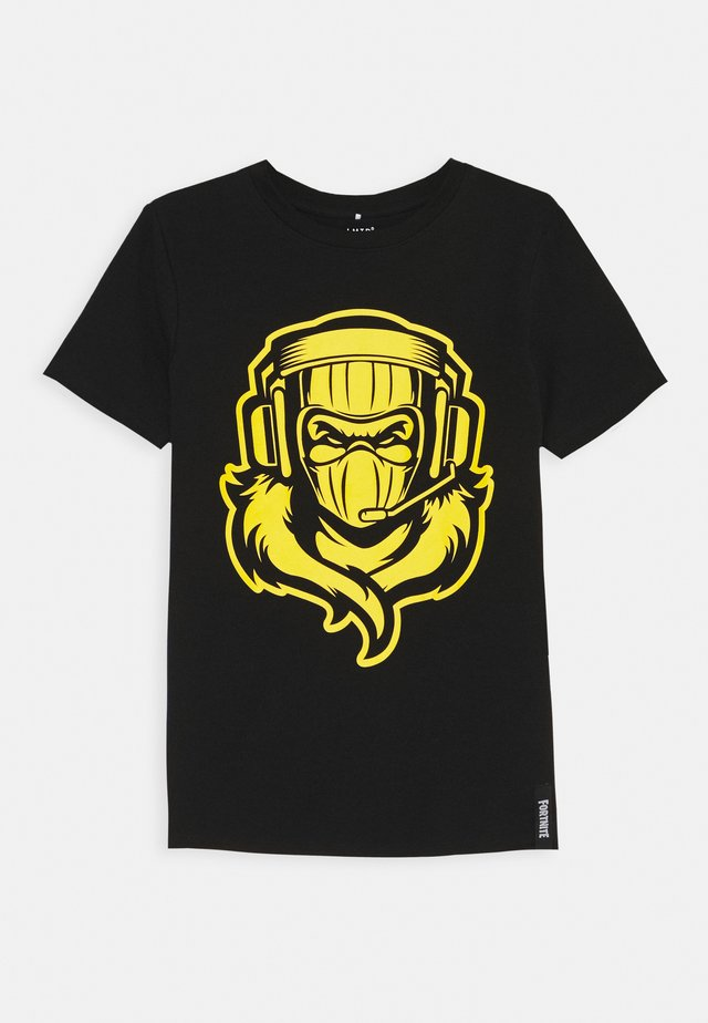NLMFORTNITE JEPPE BOX - Print T-shirt - black/yellow