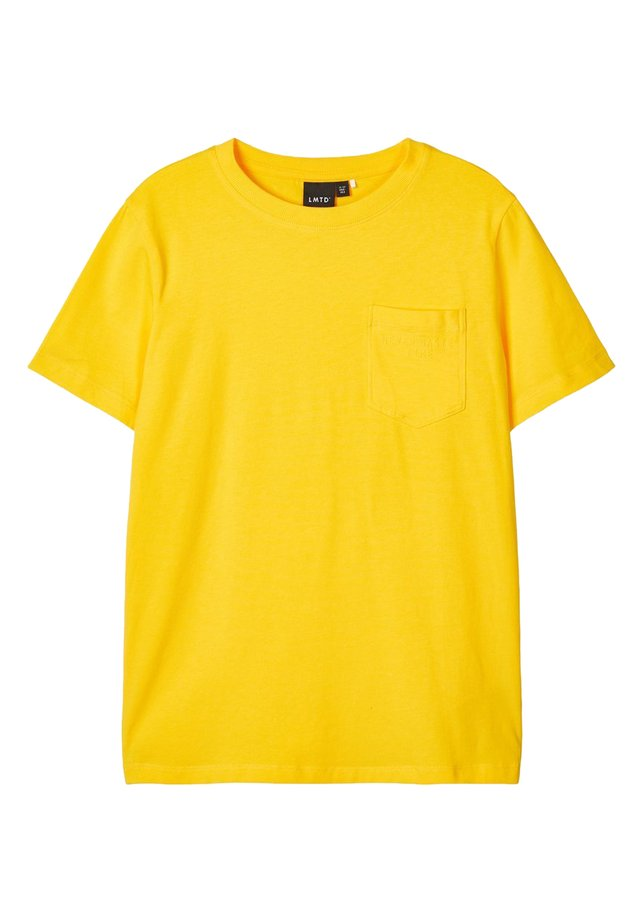 LMTD T-SHIRT BRUSTTASCHEN - Basic T-shirt - lemon