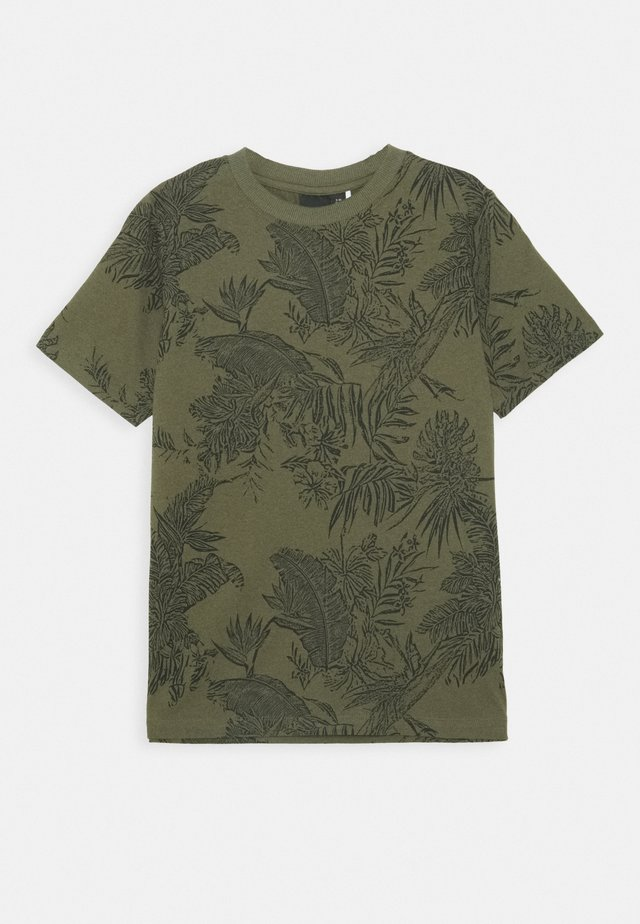 NLMLUZIOT - T-shirt med print - ivy green