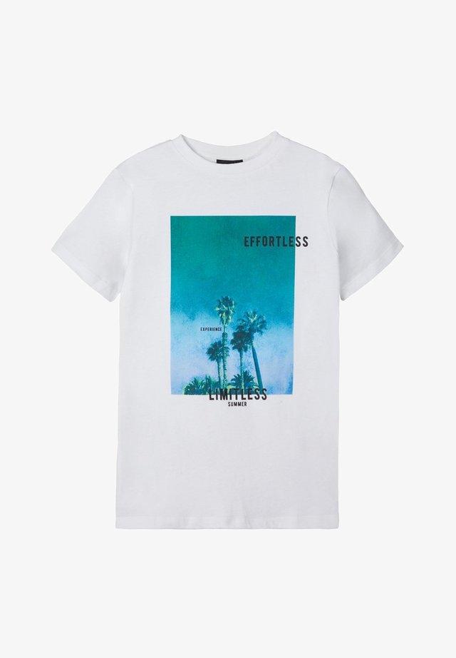 T-Shirt print - bright white 1