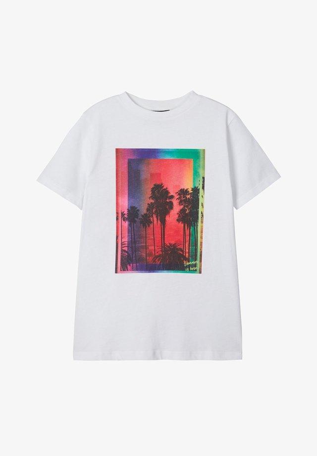 T-shirt med print - bright white 2