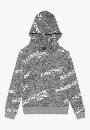 NLMKASPER HOOD - Kapuzenpullover - grey melange/white