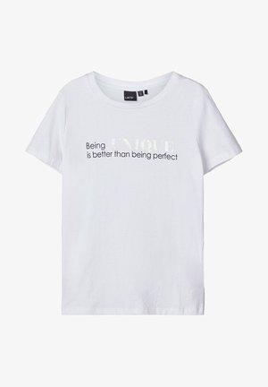 LMTD T-SHIRT BEDRUCKTES - T-shirt z nadrukiem - bright white