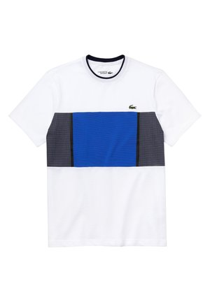 LACOSTE SPORT - HERREN T-SHIRT - T-shirt con stampa - weiß/blau/navy blau/navy blau