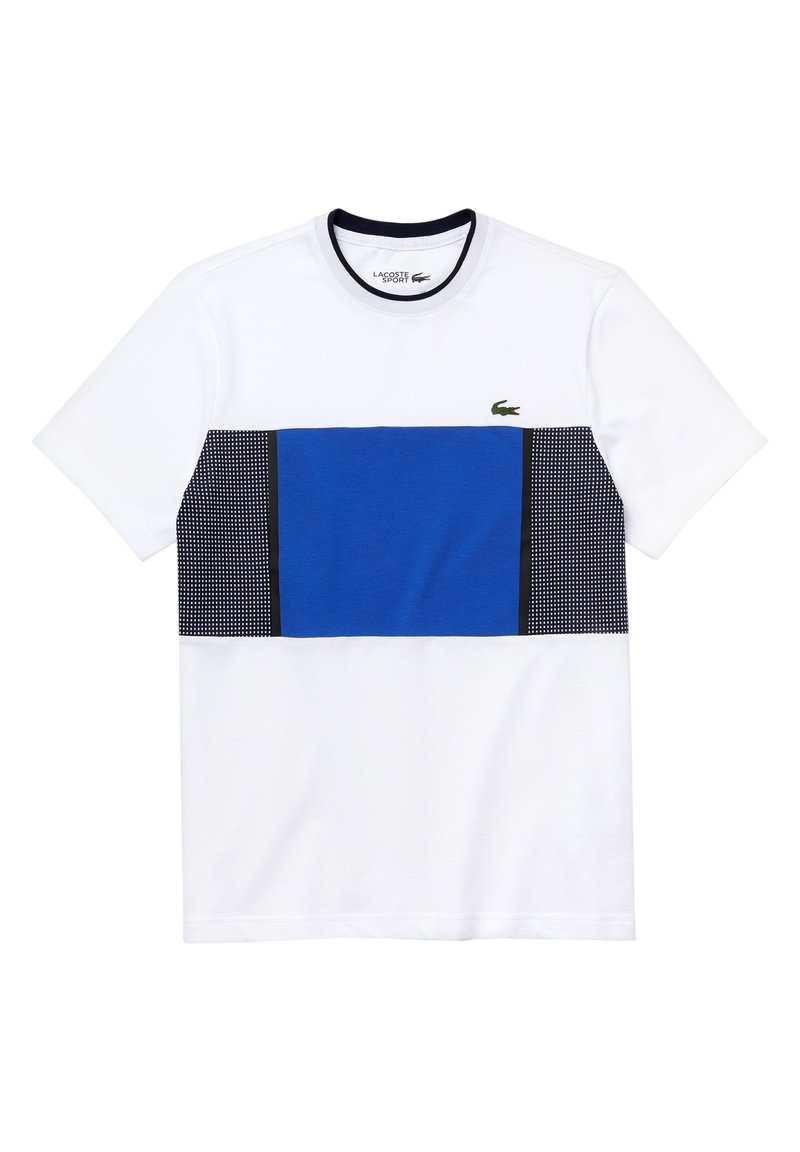Lacoste Sport - LACOSTE SPORT - HERREN T-SHIRT - Print T-shirt - weiß/blau/navy blau/navy blau