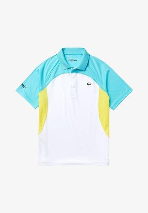 Polo shirt - blanc / turquoise / jaune / bleu marine