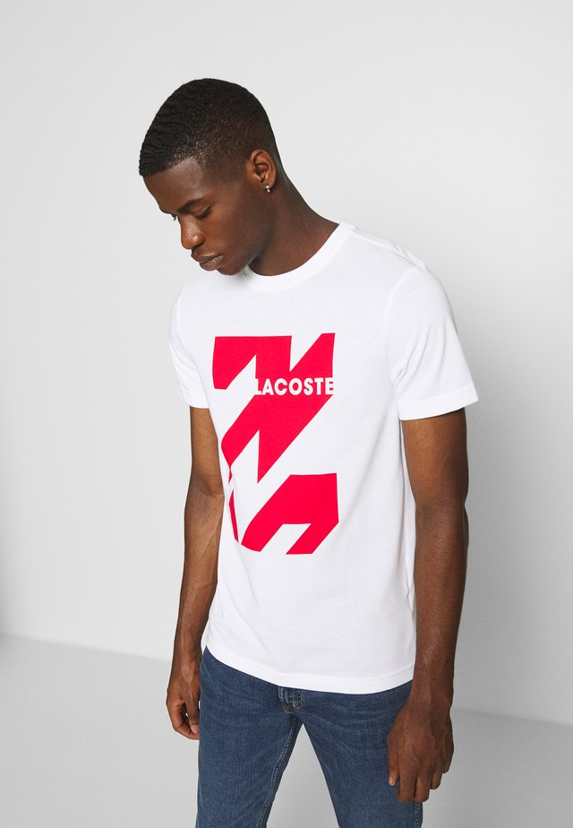 SPORT TEE HOMME - T-shirt z nadrukiem - white