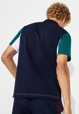 YH8479 - Polo - navy blue/white/green