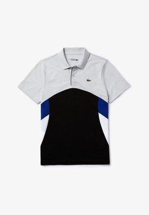 YH4742 - Polo - gris clair / noir / blanc / bleu