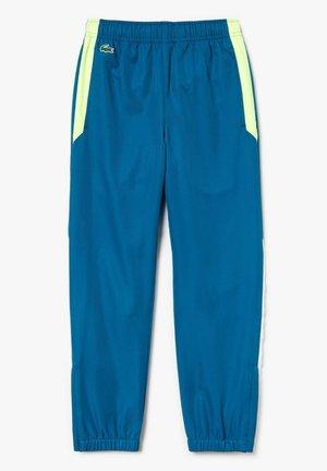 Pantalon de survêtement - bleu / jaune fluo / blanc