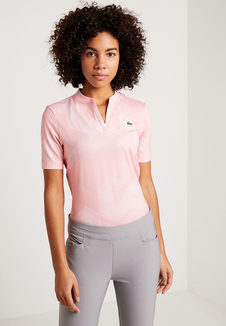 Lacoste Sport - GOLF GRAPHIC - T-Shirt print - bagatelle pink/white
