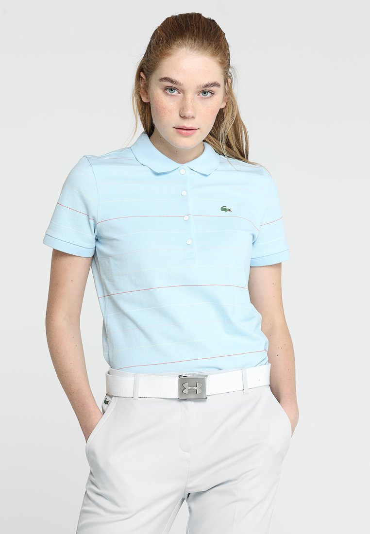 Lacoste Sport - GOLF MODERN STRIPE - Poloshirt - dream blue/mango tree red/white/bagatelle pink/sulphur pit