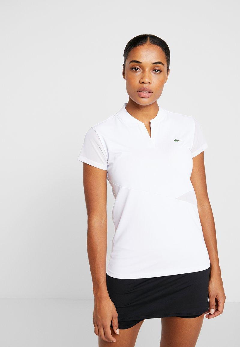Lacoste Sport - TENNIS  - T-shirt med print - white/black