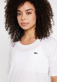 Lacoste Sport - Camiseta estampada - white/black - 3