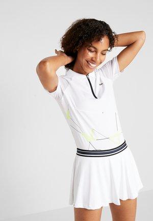 TENNIS ZIP - Sportshirt - white/fluorescent/black