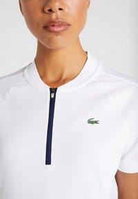 Lacoste Sport - Camiseta estampada - white/navy blue - 5