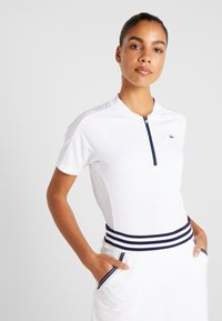 Lacoste Sport - Print T-shirt - white/navy blue - 0