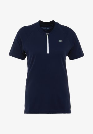 T-shirt print - navy blue/white onagre