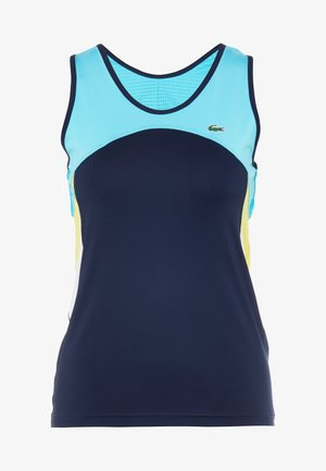 TENNIS TANK - Top - navy blue/haiti blue/lemon white