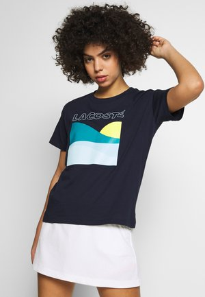 SUN - T-shirt print - navy blue