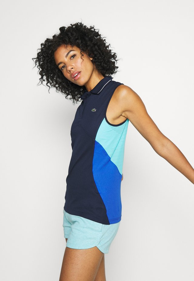 TENNIS TANK - Funkční triko - navy blue/obscurity haiti blue white