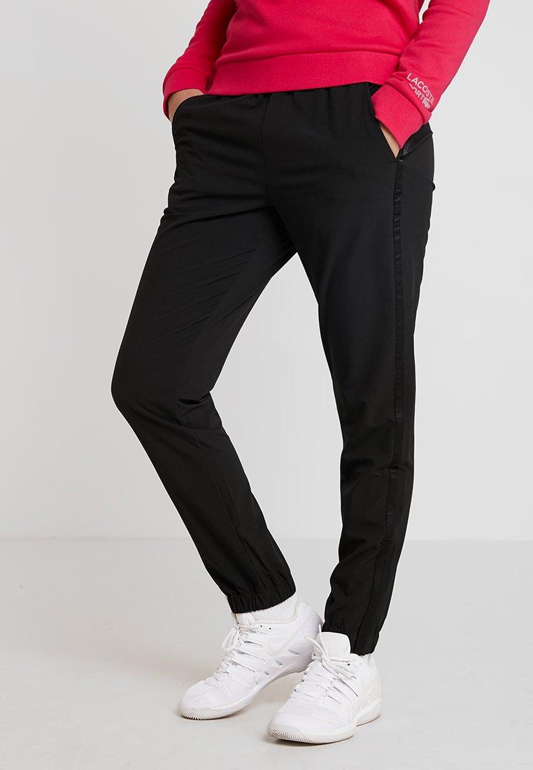 Lacoste Sport - WOMEN TENNIS TROUSERS - Träningsbyxor - black
