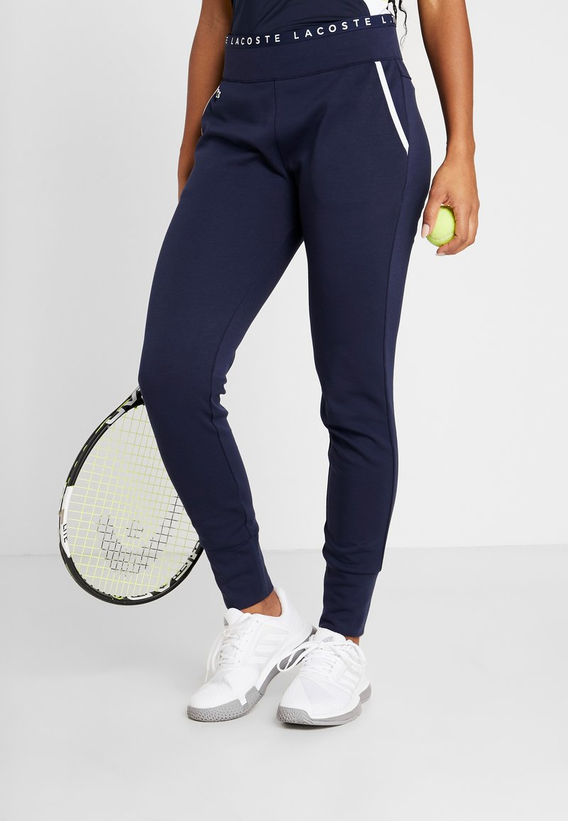 Lacoste Sport - TENNIS PANT - Trainingsbroek - navy blue/white