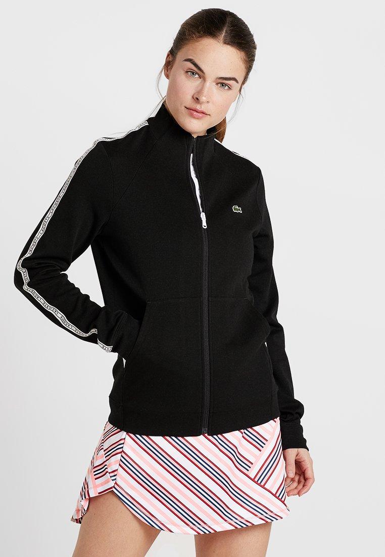 Lacoste Sport - TRACK JACKET - Training jacket - black/white