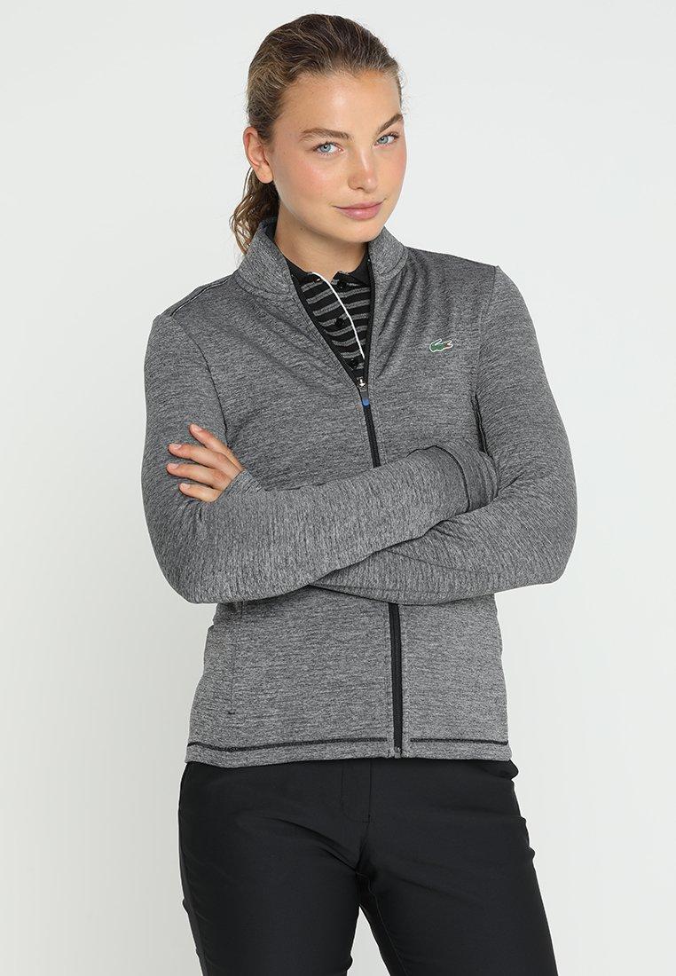Lacoste Sport - Fleecová bunda - roche chine/black/blue royal