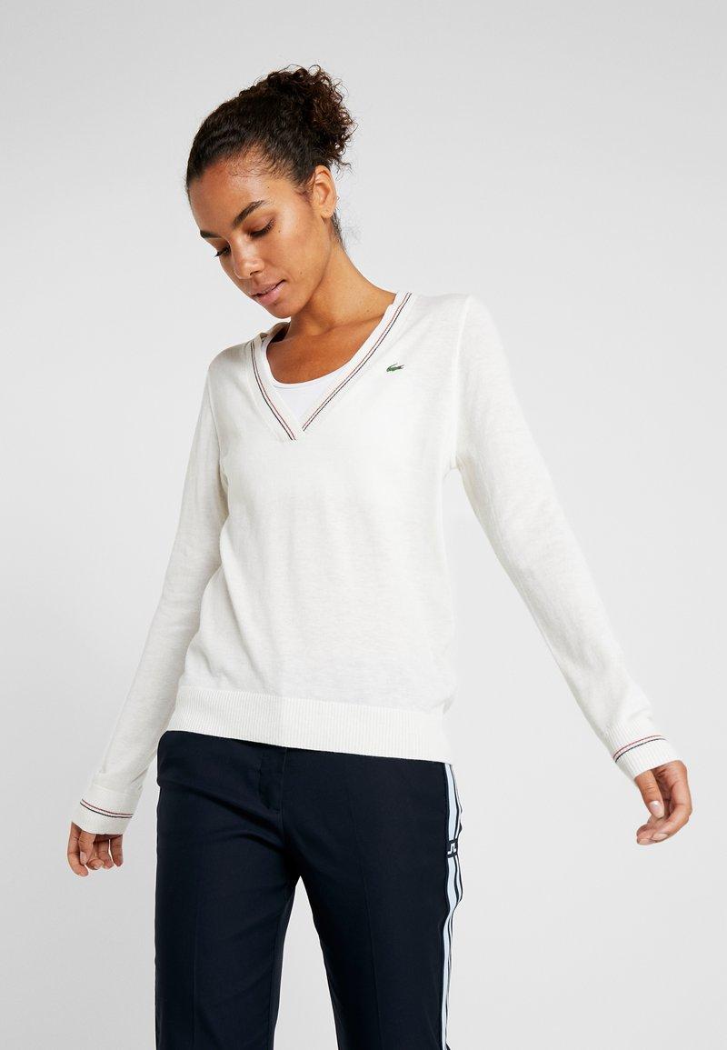 Lacoste Sport - Jumper - white/navy blue/tokyo red