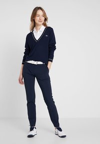 Lacoste Sport - Jersey de punto - navy blue/white onagre - 1