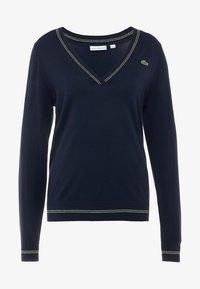 Lacoste Sport - Jersey de punto - navy blue/white onagre - 4