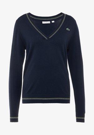 Jersey de punto - navy blue/white onagre