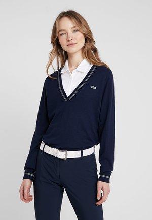 Pullover - navy blue/white onagre