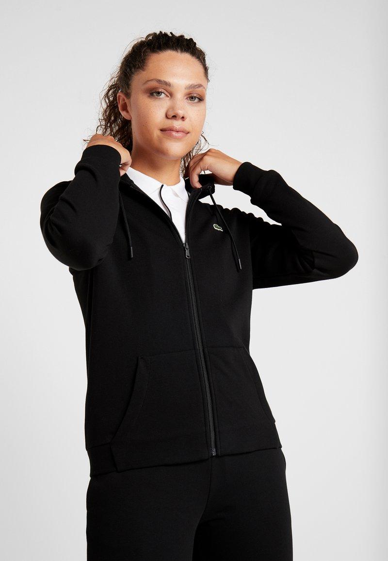 Lacoste Sport - WOMEN TENNIS  - Sweatjacke - black