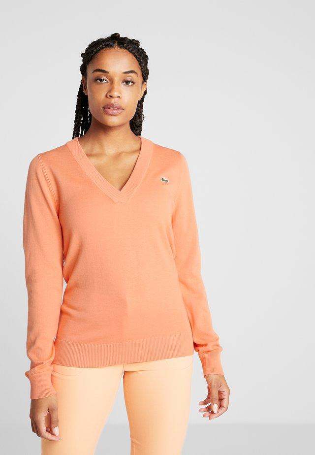 V NECK  - Jersey de punto - orangeade