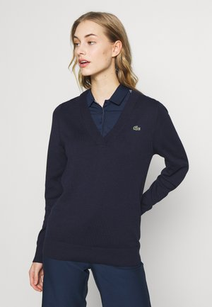V NECK  - Sweter - navy blue
