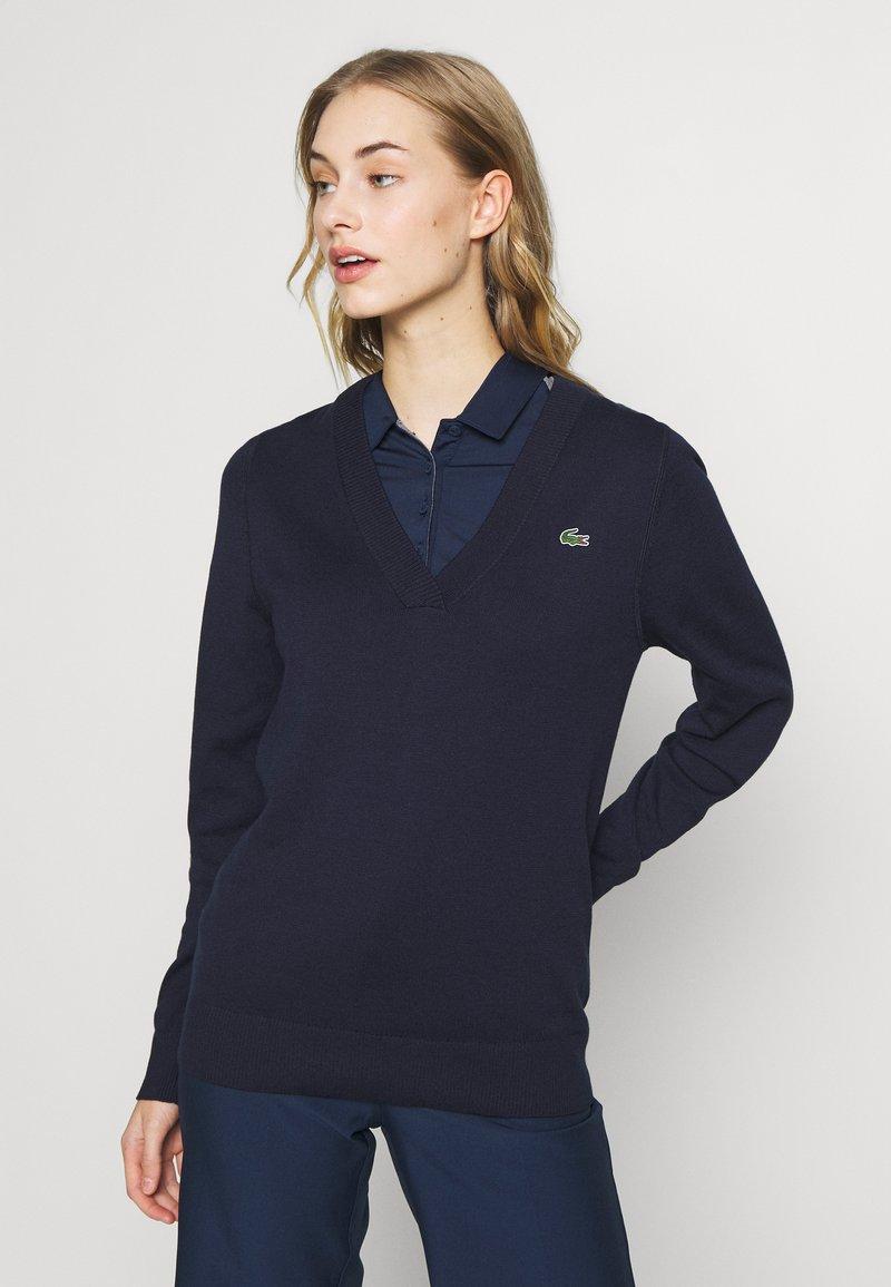 Lacoste Sport - V NECK  - Trui - navy blue