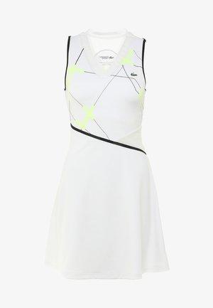 TENNIS DRESS - Jurken - white/black