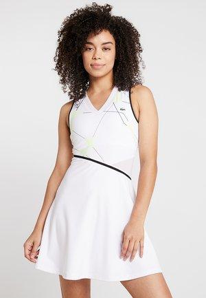 TENNIS DRESS - Sports dress - white/black
