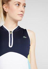 Lacoste Sport - TENNIS DRESS - Sportovní šaty - white/navy blue/haiti blue/lemon - 5