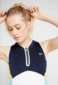 Lacoste Sport - TENNIS DRESS - Sportovní šaty - white/navy blue/haiti blue/lemon - 3