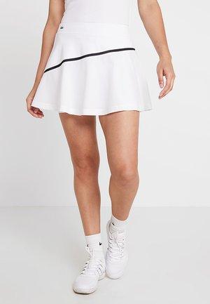 TENNIS SKIRT - Sports skirt - white/black