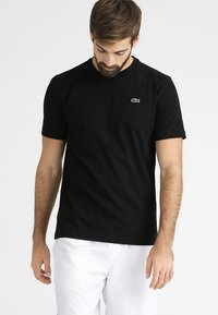 Lacoste Sport - HERREN - Basic T-shirt - black - 0