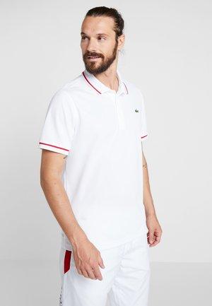 T-shirt sportiva - white/red