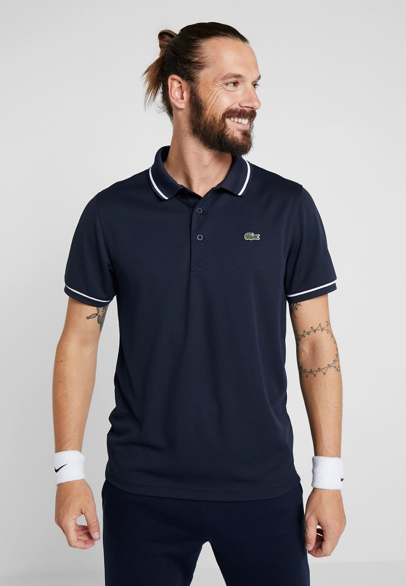 Lacoste Sport - Funktionströja - navy blue/white